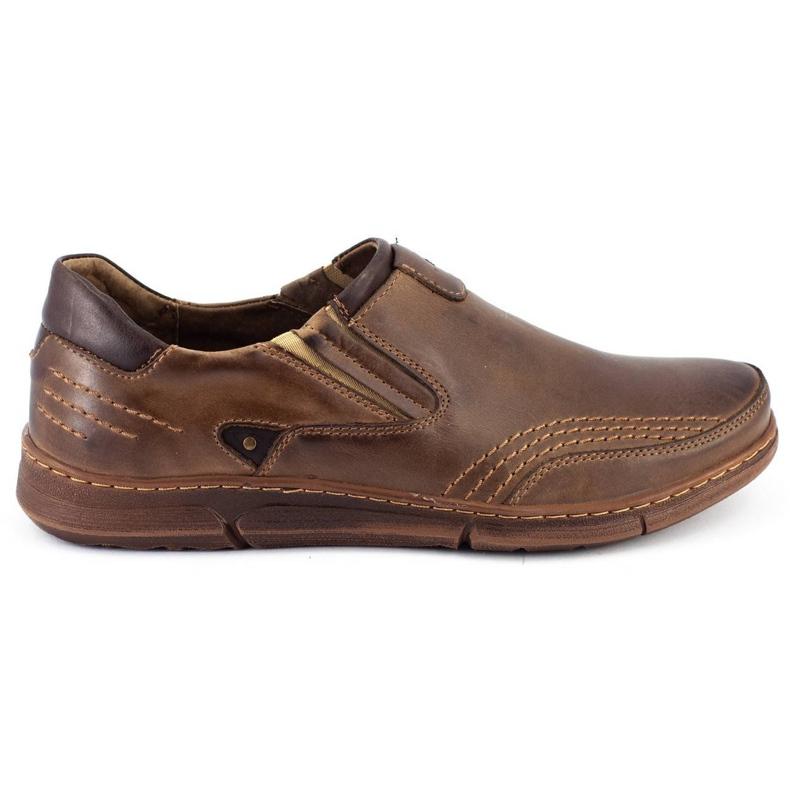 Polbut Men's slip-on shoes J51 brown