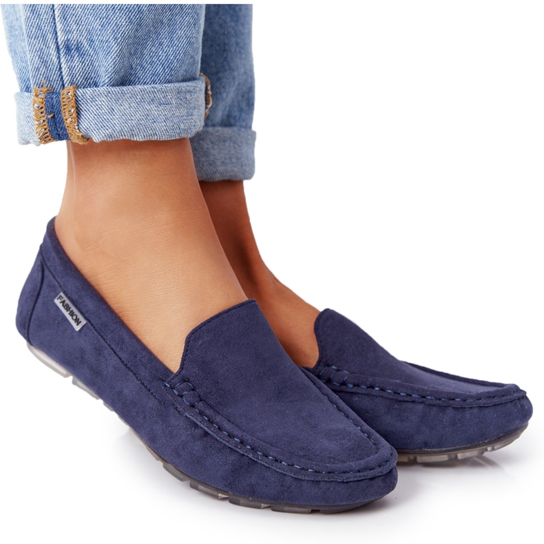 PH1 Women's Suede Loafers Navy Blue San Marino
