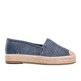 Carly blue woven espadrilles