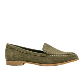 Green loafers made of eco-suede from Hope