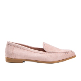 Pink eco-suede loafers from Hope