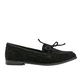 Black Kierra eco-suede loafers