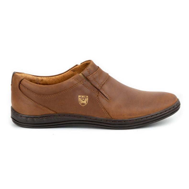 Polbut Men's shoes Leather 362 Camel brown