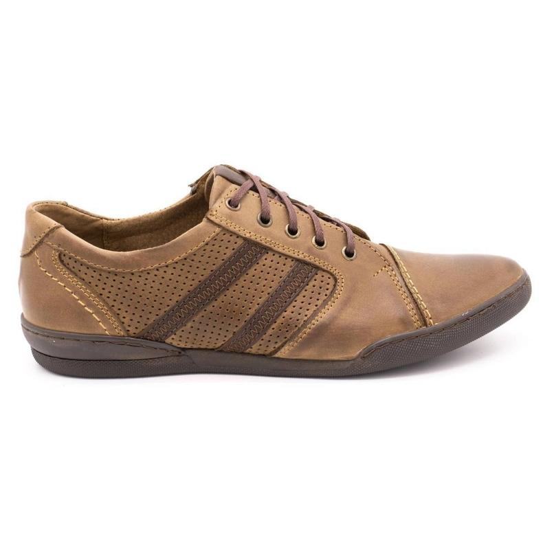 Polbut Casual men's shoes R3 Perforation Brown