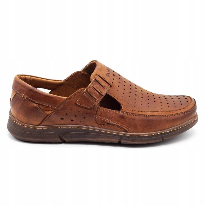 Polbut Men's summer openwork shoes J73L camel brown