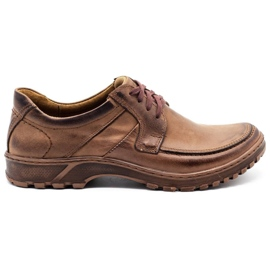KOMODO Leather men's shoes 853 brown
