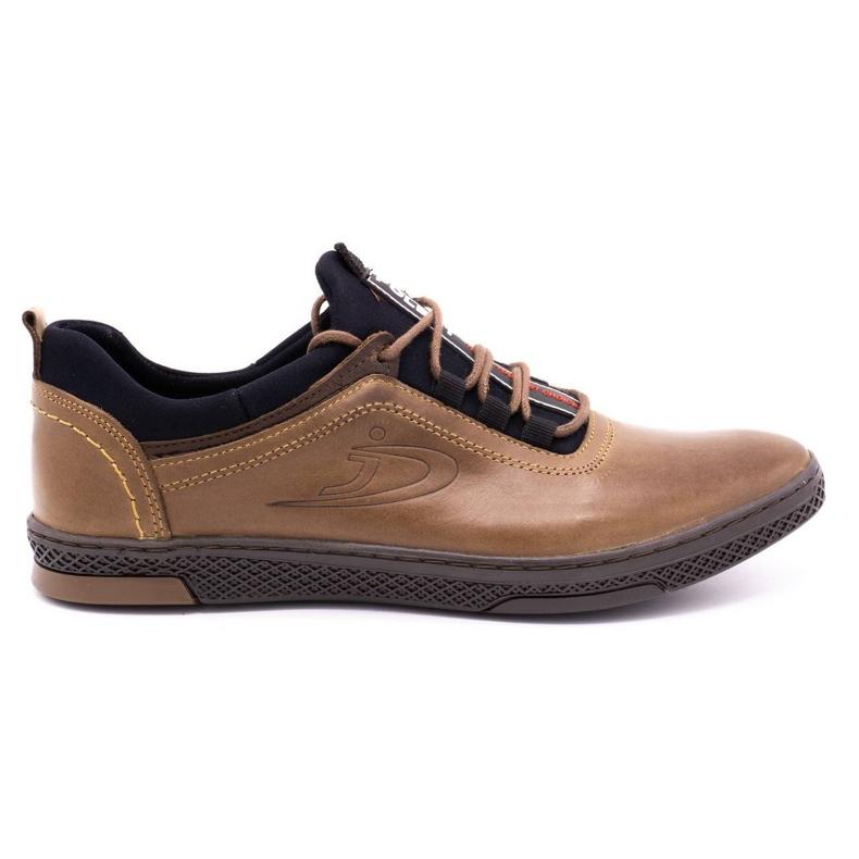 Polbut Men's casual leather shoes K24 light brown