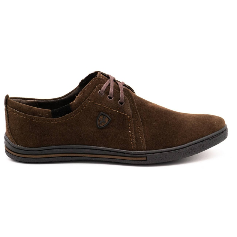 Polbut Leather shoes for men 343 brown suede