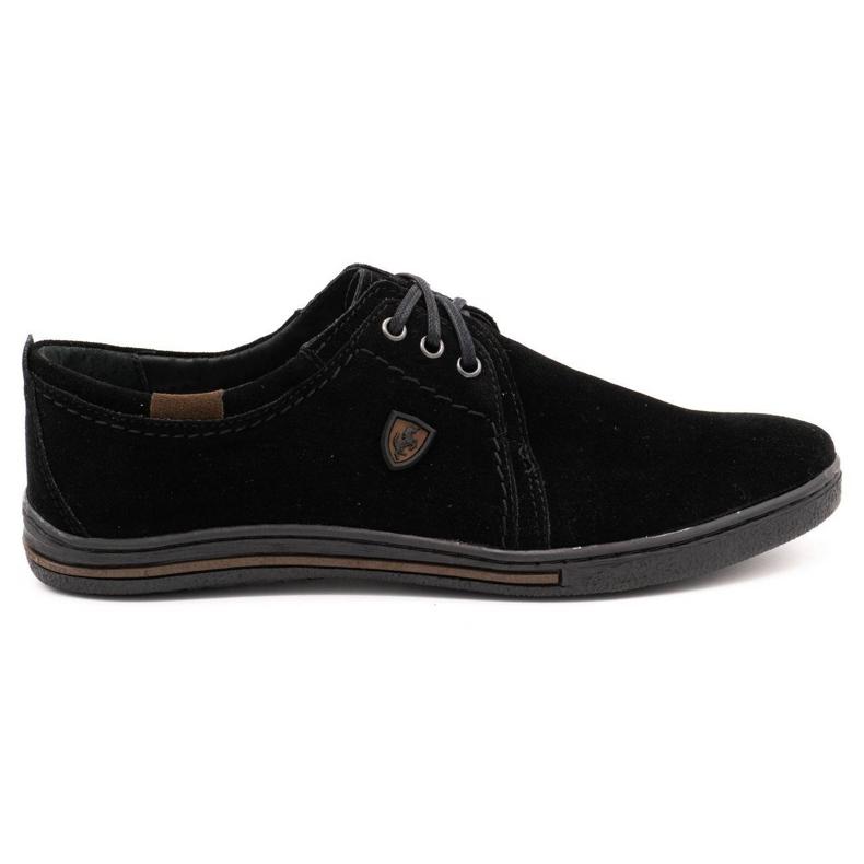 Polbut Leather shoes for men 343 black suede