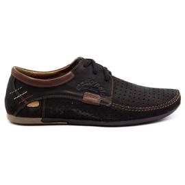 Mario Pala Men's openwork shoes 563 black