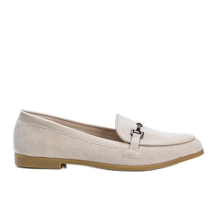 Juliette beige eco-suede loafers