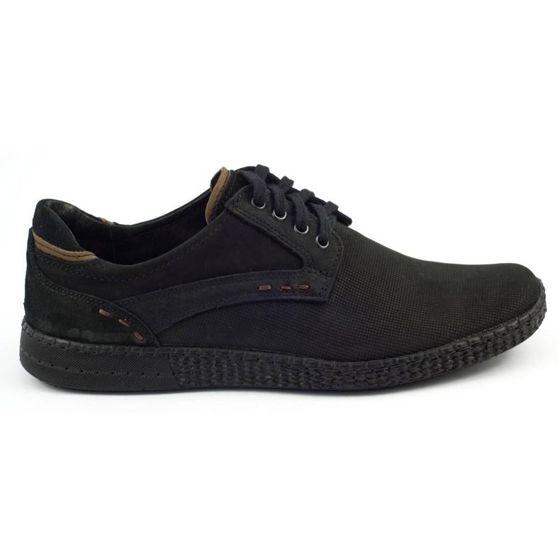 KOMODO Casual men's shoes 848 black brown