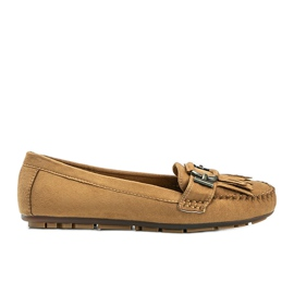 Brown eco-suede loafers from Maia