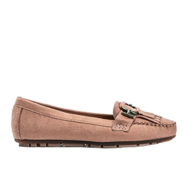 Pink Maia eco-suede loafers