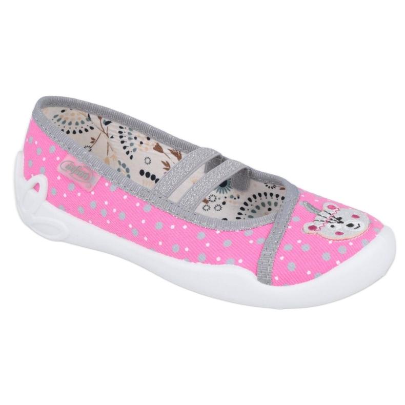 Ballerinas Befado children's shoes 116X284 pink silver grey