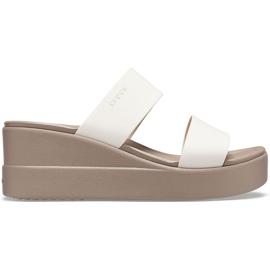 Crocs women's slippers Brooklyn Mid Wedge beige 206219 16T