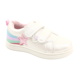 Evento Sports Shoes With Velcro Star white pink silver multicolored
