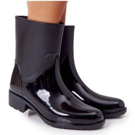 PS1 Shiny Black Jodhpur boots Rainy Day