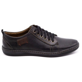Olivier Men's leather shoes 695MP black brown