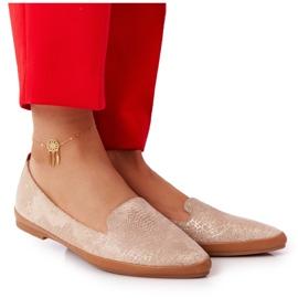 Women's Loafers Sergio Leone MK700 Suede Beige golden