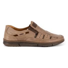 KENT Men's openwork 601 summer brown shoes