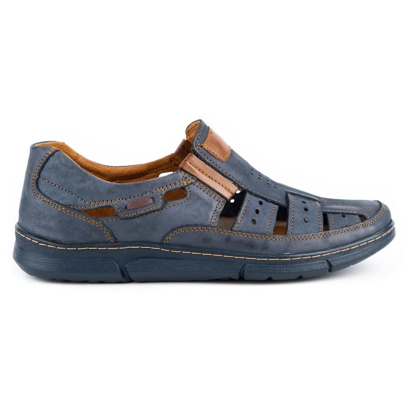 KENT Men's openwork 601 shoes for summer navy blue