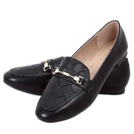Black women's loafers JL76 Black