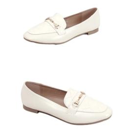 Women's beige loafers JL76 Beige