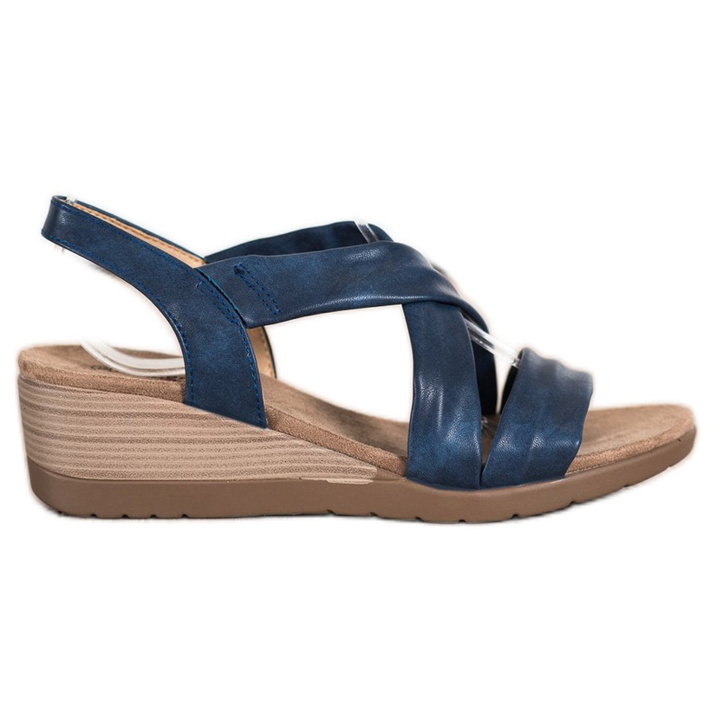 S. BARSKI Wedge Sandals S.BARSKI blue
