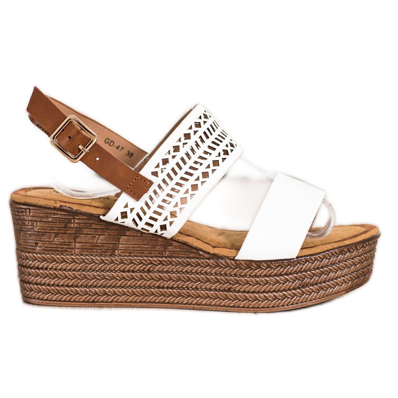 S. BARSKI White Sandals On Wedge S.BARSKI brown