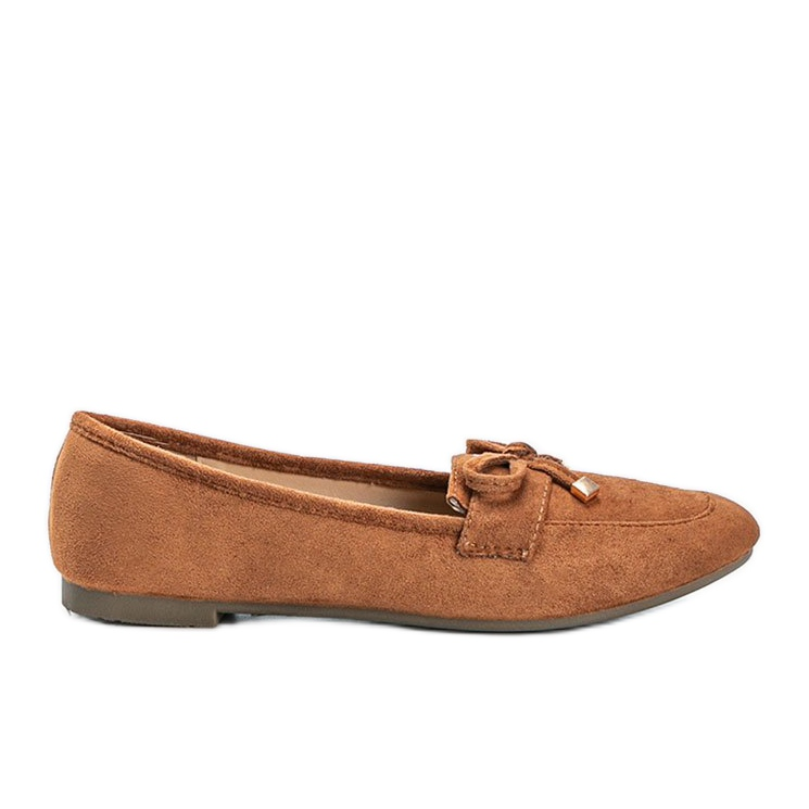 Brown loafers with a bow from Arlene