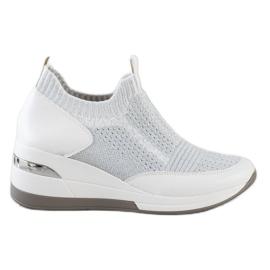 ARTIKER Slipless Wedge Sneakers white silver grey