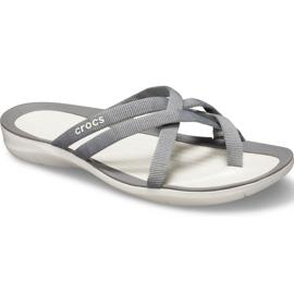 Crocs Women's Slippers Swiftwater Webbing Flip W Light Gray 205479 Oct. grey