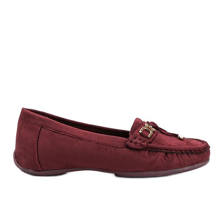 Darren maroon loafers red