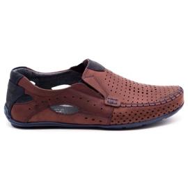 Olivier Men's shoes moccasins 901 summer burgundy red
