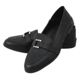 Black women's loafers 4585 Black