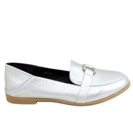 Silver Women's loafers 4585 Silver