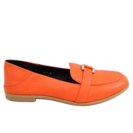 Orange women's loafers 4585 Orange