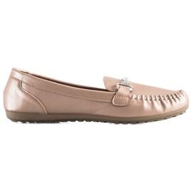 Queentina Elegant Loafers With Cubic Zirconia beige