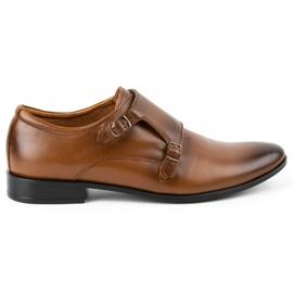 Lukas Leather formal shoes Monki 287LU light brown