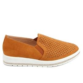 Shoes openwork camel 918-15 Camel brown