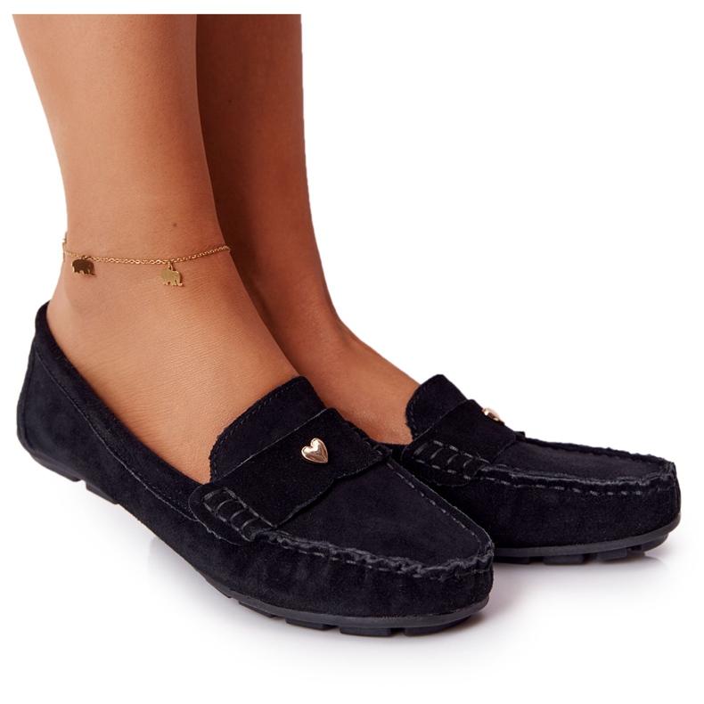 S.Barski Women's suede loafers from S. Bararski Black