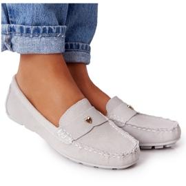 S.Barski Women's Suede Loafers S. Barski Gray grey