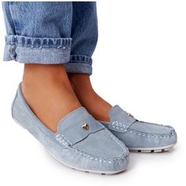 S.Barski Women's Suede Loafers S. Barski Blue