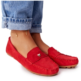 S.Barski Women's suede loafers from S. Bararski Red