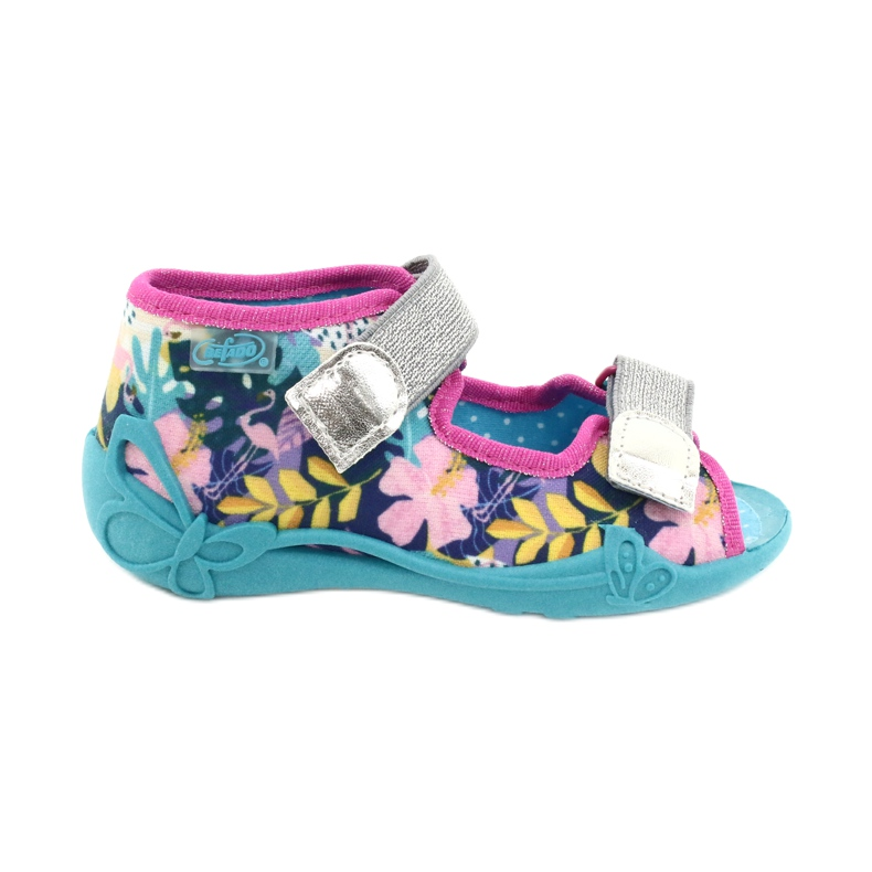 Befado children's shoes 242P098 blue pink silver multicolored