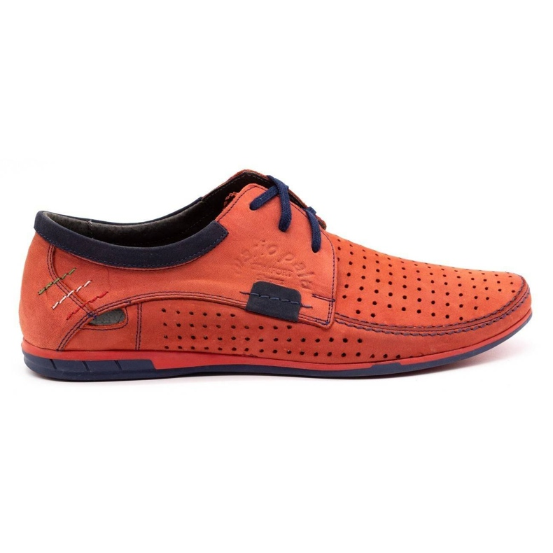 Mario Pala Men's openwork shoes 563 red