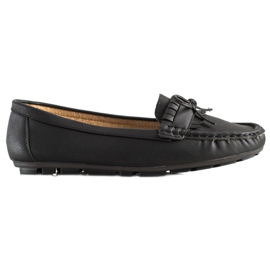 Clowse Black Loafers With A Bow