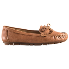 Clowse Brown Loafers With A Bow