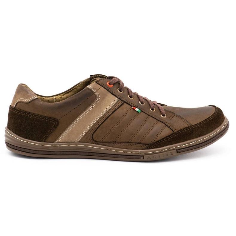 Olivier leather men's shoes 236GT brown